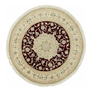 Nain 9La Persian Rug, Round Hand-Knotted Classic, 190x190 cm