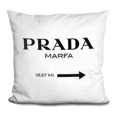 Prada Marfa Black Decorative Accent Throw Pillow
