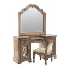 Coaster Home Furnishings   Coaster Vanity Mirror, Antique Linen   Bedroom U0026  Makeup Vanities