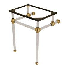 "Fauceture 24"" x 20-3/8"" x 30"" Acrylic Console Sink Legs, Brushed Brass"