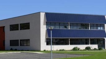 Entrepôt équipé en solaire thermique