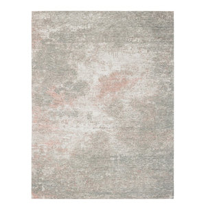 Grunge Rug, Grey and Flamingo Pink, 280x380 Cm