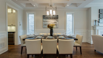 Custom Home Living & Dining Rooms