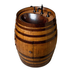 Wine Barrel Vanity