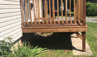 Front deck & steps