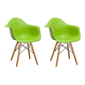 Green Living Room Chair With Wood Legs