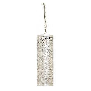 Sharit Slender Moroccan Pendant, Silver Finish