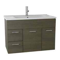 "33"" Bathroom Vanity Set, Gray Oak"