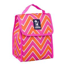 Munch'n Lunch Bag, Zig Zag Pink