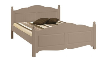 Windsor Taupe Double Bed, Frame With Slatted Base and Mattress