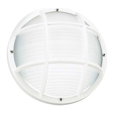 Sea Gull Bayside One Light Outdoor Wall / Ceiling Mount, White
