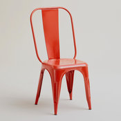 Red Orange Cargo Chairs, Set of 2