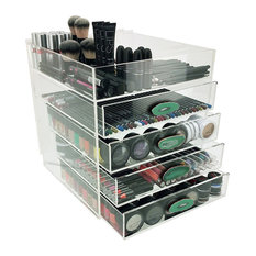 "OnDisplay Ultimate Diva Cosmetic Organization Station - 12"" Cube - Gold/Silver"