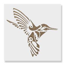 "Hummingbird Deco Stencil for DIY Projects, 35""x35"""