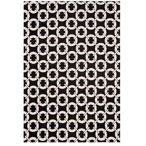Arlo Buckle Black Rectangular Rug, 160x230 cm