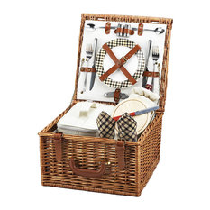 Picnic at Ascot - Cheshire Picnic Basket For Two, Wicker W and London - Picnic Baskets