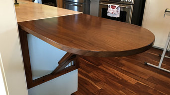 Folding Walnut Counter Extension