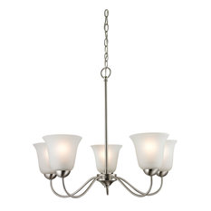 Cornerstone Conway 5 Light Chandelier, Brushed Nickel