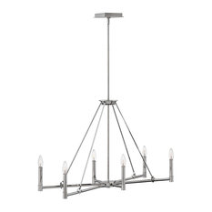 Hinkley Buchanan Chandelier 4986PN, Polished Nickel