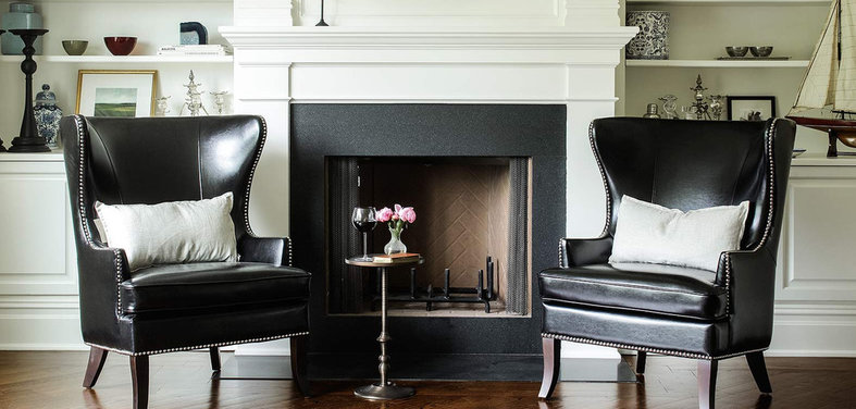 Shop houzz pairing dark furniture with light accents Home design furniture llc