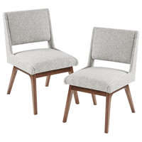 INK+IVY Boomerang Dining Chairs, Set of 2, Light Grey