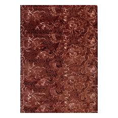 Barcelona Floral Floor Rug, Chocolate, 240x170 cm