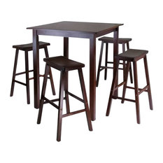 winsome winsome parkland 5piece square highpub table set with 4 saddle