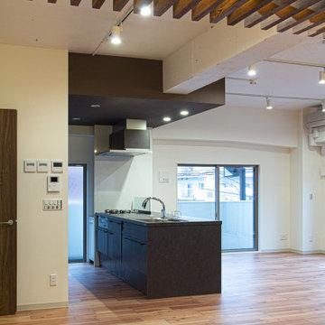 ルーバー天井の家・リノベーションマンション