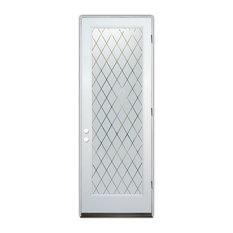 Sans Soucie Art Glass - Glass Front Entry Door Sans Soucie Art Glass Diamond Grid - Front Doors