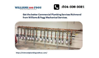 Get the best commercial plumbing services Richmond.