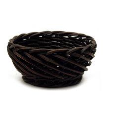 """12"""" Dark Carved Split Willow Bowl"""