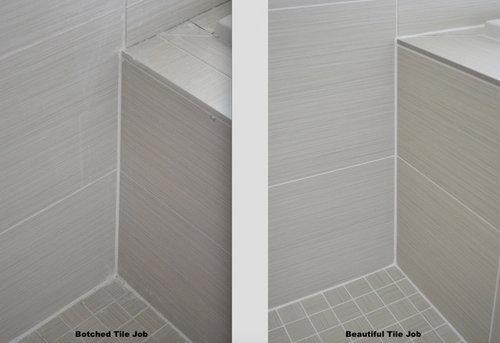Badly Botched Tile Job In Master Bathroom Remodel