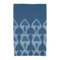 Watermark, Geometric Print Beach Towel, Blue
