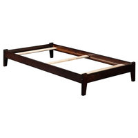 Traditional Bed in Espresso (41.625 in. W x 77 in. D x 10.75 in. H (50  lbs.))