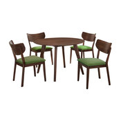 Picket House Furnishings Rosie 5-Piece Dining Set With Green Chairs