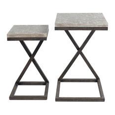 Elder End Or Side Table In Bronze