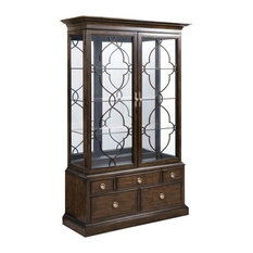 ... Grantham Hall Curio Cabinet in Coffee - China Cabinets And Hutches