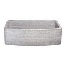 """The Allstone Group - 33"""" Farmhouse Kitchen Sink, Single Bowl, Reversible, Marble, Stratus - Kitchen Sinks"""