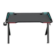 """Brindisi Gaming Desk, Black, 48"""""""