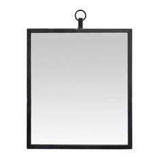 Black Rectangular Ring Mirror, 40x50 cm