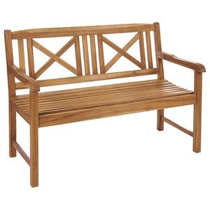Saigon Wood Garden Bench, Natural