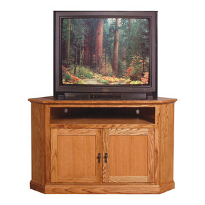 Mission Large Corner Tv Stand Traditional Entertainment Centers