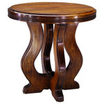 """Patagonia Legacy - Fantasma Side Table - Fantasma """"The Phantom"""" - A ghost as it's inspiration, Fantasma was a request from a client for a side-table version of the Mayordomo (DS44) dining table. The cross-harp base sways upward to support a thick top."""