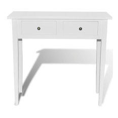 VidaXL Console Table With 2 Drawers Wood White Dressing Accent Stand Furniture