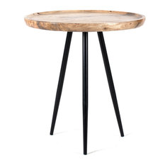 Chervey Natural Mango Wood Living Room Side Table