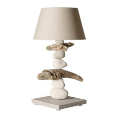 Lagoon Spirit Bedside Table Lamp, Taupe
