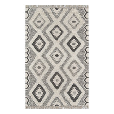 Novogratz by Momeni Indio Sierra Hand Made Wool Black Area Rug, 5'x7'