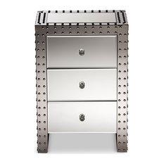 Azura Modern Hollywood Regency Glamour Style Nightstand Bedside Table