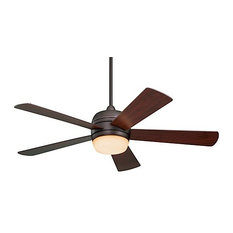 "Atomical 52"" Fan, Brushed Steel, Cherry Blades, Opal Matte, Oil Rubbed Bronze"