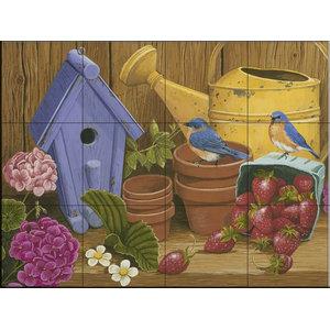 Tile Mural, Signs of Spring - WV, 43.2x32.4 cm